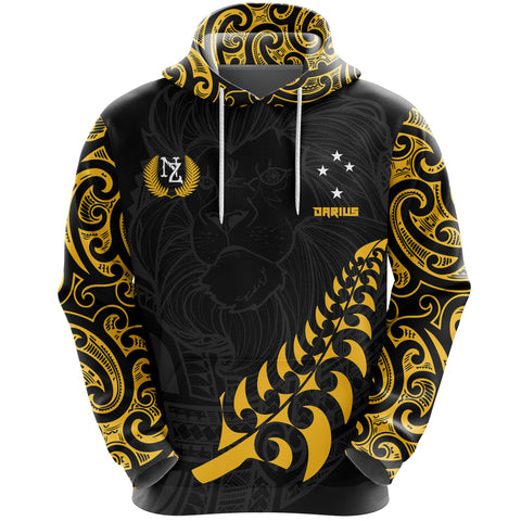 Maori Lion Rugby Hoodie - Custom Personalized - Darius K5 - 1st New Zealand