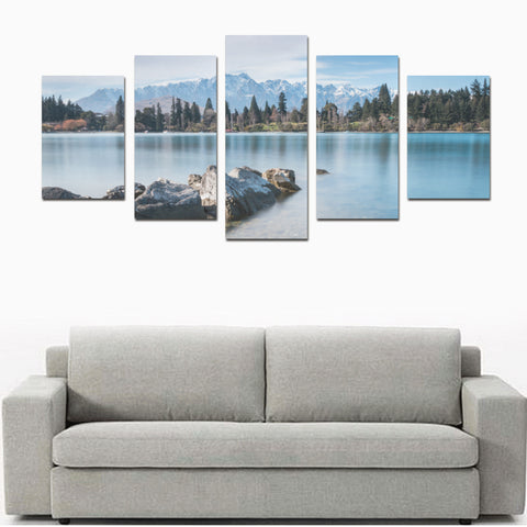 The Remarkables and Lake Wakatipu Queenstown Canvas Print K4 - 1st New Zealand