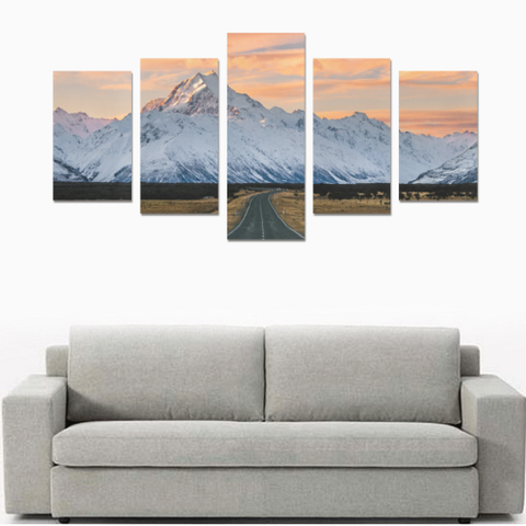 New Zealand Landscape Canvas Print - Mount Cook K4 - 1st New Zealand