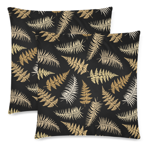New Zealand Fern Leaves Pattern Zippered Pillow Cases 18 - 1st New Zealand