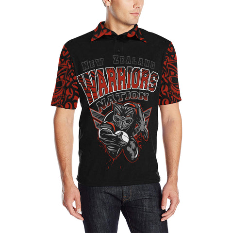 New Zealand Warriors Polo T Shirt Unique Style front