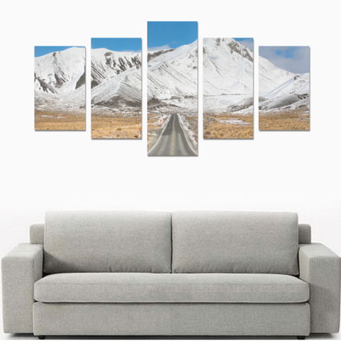 Image of New Zealand Landscape Canvas Print - Lindis Pass K4 - 1st New Zealand