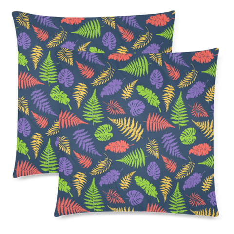 New Zealand Fern Leaves Pattern Zippered Pillow Cases 05 - 1st New Zealand