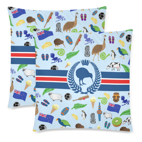 New Zealand Symbols Pillow Cover - 1st New Zealand