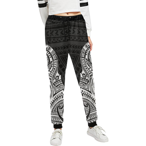 Maori Tattoo New Zealand Sweatpants with White color - Front - For Women