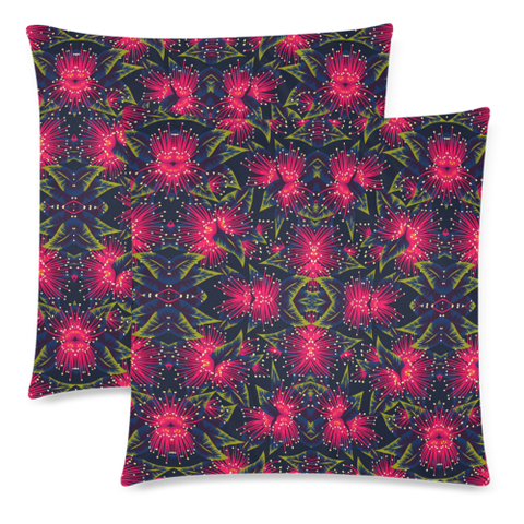 New Zealand Pohutukawa Pattern Zippered Pillow Cases 03