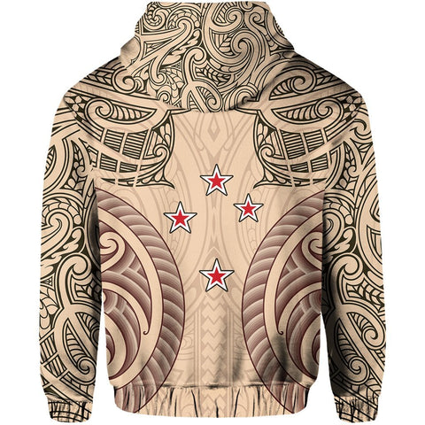 Image of Haka Moko Rugby Aotearoa Zip Hoodie Th00 - 1st New Zealand