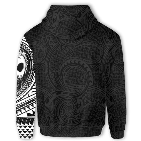 Image of Polynesian Warrior Tattoo Lauhala Zip Hoodie A75