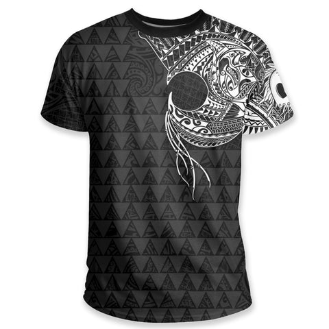 Image of Polynesian Warrior Tattoo Lauhala T Shirt A75