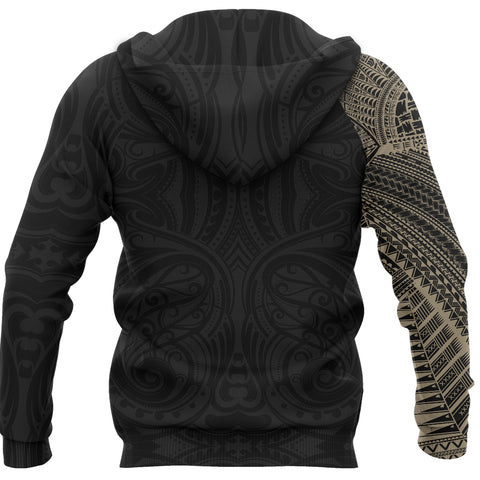 Samoa Tribal Hoodie Maori Tattoo Roman Reigns Pullover Hoodie Gold TH75 - 1st New Zealand