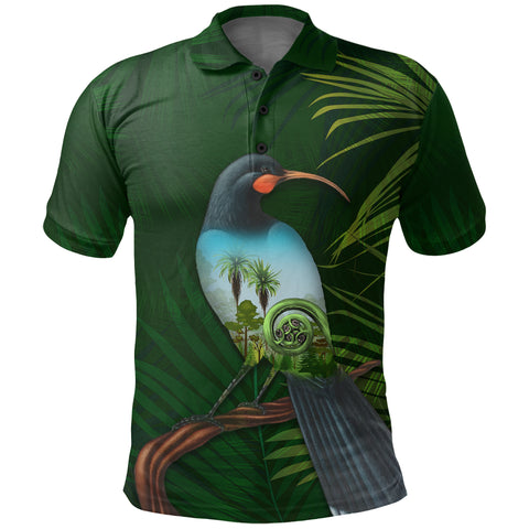 New Zealand Polo Shirt, Huia Bird Golf Shirts K5 - 1st New Zealand