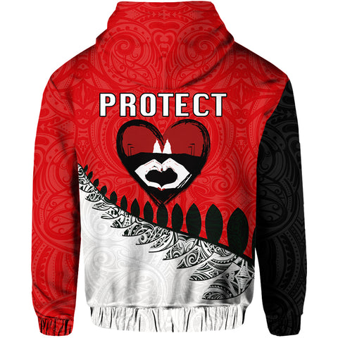 Image of Ihumatao Hoodie New Zealand back
