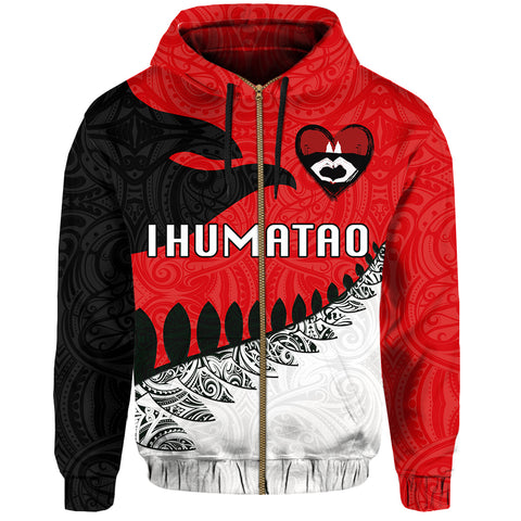 Image of Ihumatao Hoodie (Zip) New Zealand