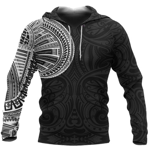 Samoa Tribal Hoodie Maori Tattoo Roman Reigns Pullover Hoodie TH75 - 1st New Zealand