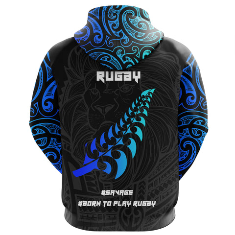 Image of New Zealand Maori Rugby Lion Hoodie K5 - 1st New Zealand