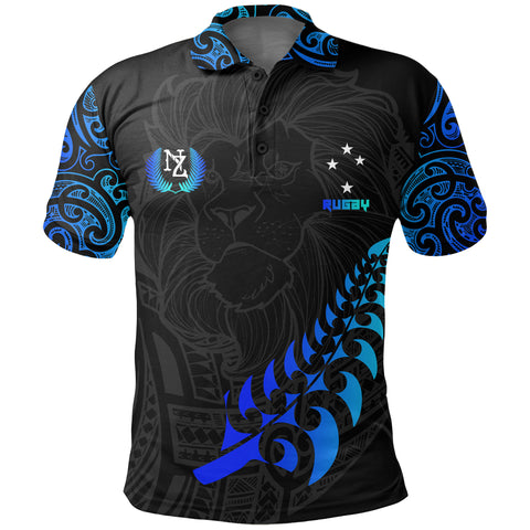 New Zealand Maori Rugby Lion Polo Shirt K5 - 1st New Zealand