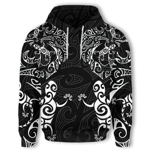 New Zealand Maori Hoodie, Tribal Lizard Tattoo Pullover Hoodie K5 - 1st New Zealand