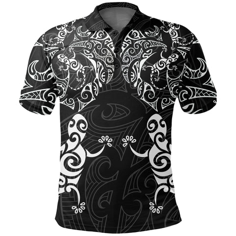 New Zealand Maori Polo Shirt, Tribal Lizard Tattoo Pullover Golf Shirts K5 - 1st New Zealand