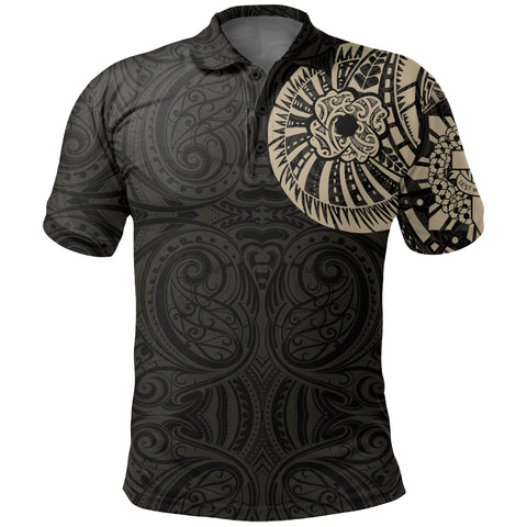 Anzac New Zealand Polo Shirt, Maori Poppies Tattoo Golf Shirts - Tan A75 - 1st New Zealand