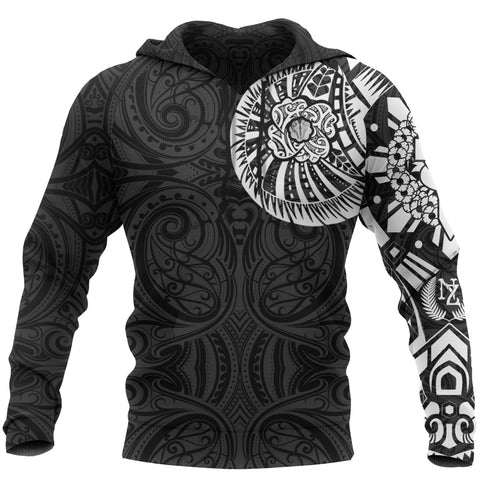 Anzac New Zealand Hoodie, Maori Poppies Tattoo Pullover Hoodie - White A75 - 1st New Zealand