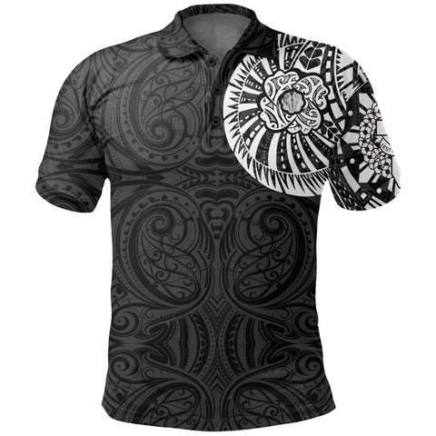 Anzac New Zealand Polo Shirt, Maori Poppies Tattoo Golf Shirts - White A75 - 1st New Zealand