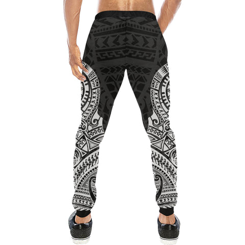 Maori Tattoo New Zealand Sweatpants with White color - Back - For Men