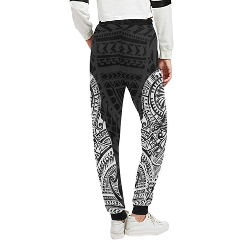 Maori Tattoo New Zealand Sweatpants with White color - Back - For Women