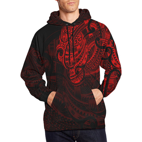 Maori Tattoo Style All Over Hoodie Red Version - 1st New Zealand