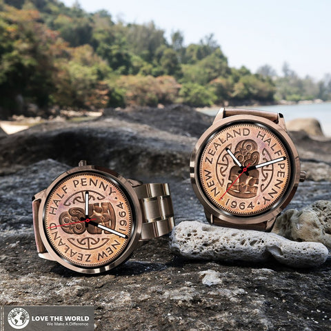 HeiTiki Coin New Zealand Rose Gold Watch K5 - 1st New Zealand