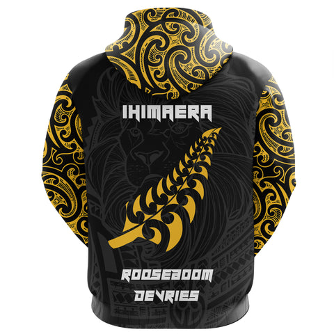 Maori Lion Rugby Hoodie - Custom Personalized - Nico K5 - 1st New Zealand