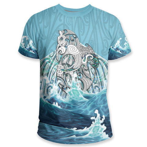 Maori Manaia The Blue Sea T Shirt K5 - 1st New Zealand