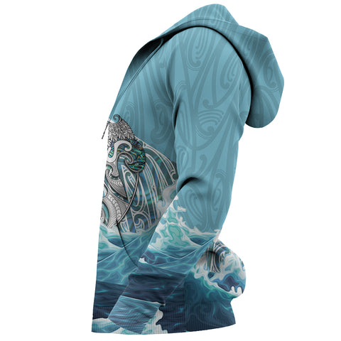 Maori Manaia The Blue Sea Hoodie K5 - 1st New Zealand