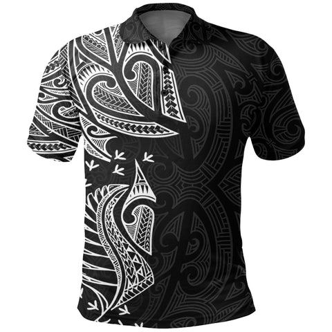 New Zealand Maori Polo Shirt, Ta Moko Tattoo Golf Shirt - White K5