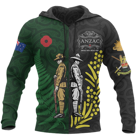 Anzac Spirit Hoodie, Lest We Forget Pullover Hoodie - Customized K5 - 1st New Zealand
