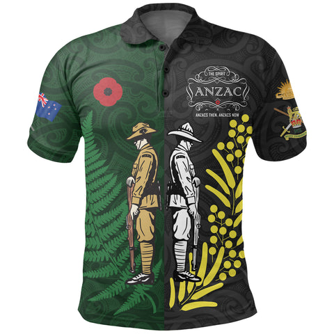 Anzac Spirit Polo Shirt, Lest We Forget Golf Shirts K5 - 1st New Zealand