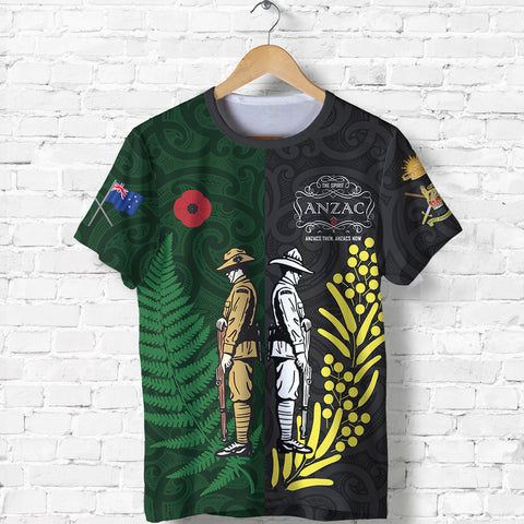 Anzac Spirit T Shirt, Lest We Forget Shirt - Customized K5 - 1st New Zealand
