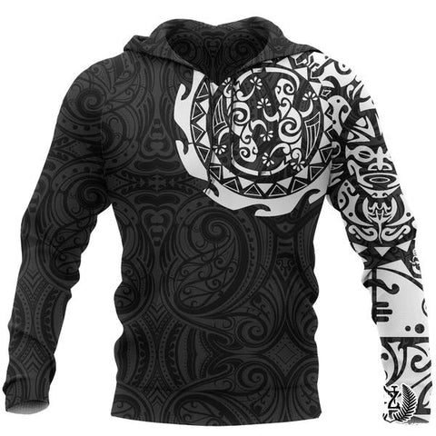 Image of Maori Tattoo Hoodie, New Zealand Lizard Pullover Hoodie A75 - 1st New Zealand