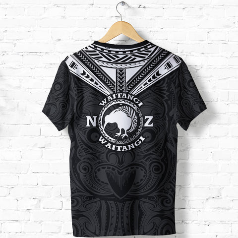 New Zealand Maori T Shirt Waitangi Day - Black K5 - 1st New Zealand