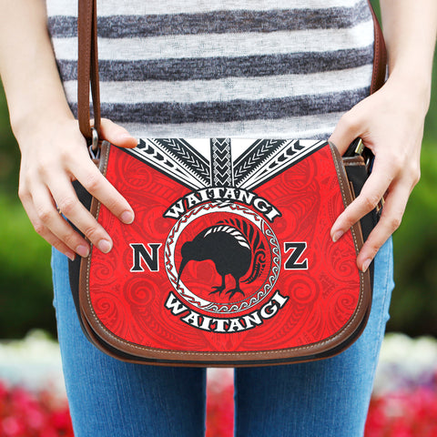 New Zealand Maori Saddle Bag Waitangi Day - Red K5 - 1st New Zealand