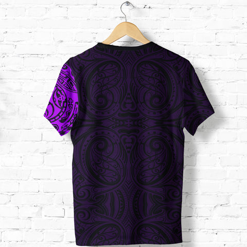 New Zealand Maori T Shirt, Maori Warrior Tattoo Shirt - Purple A75 - 1st New Zealand