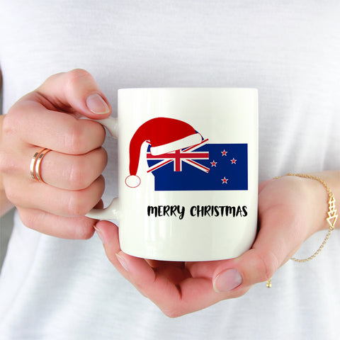 Flag New Zealand White Mug Christmas K4 - 1st New Zealand