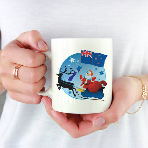 New Zealand White Mug Christmas - 1st New Zealand