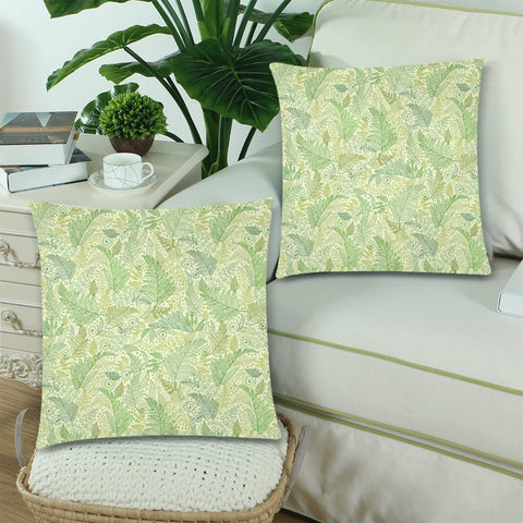 New Zealand Fern Leaves Pattern Zippered Pillow Cases 09 - 1st New Zealand