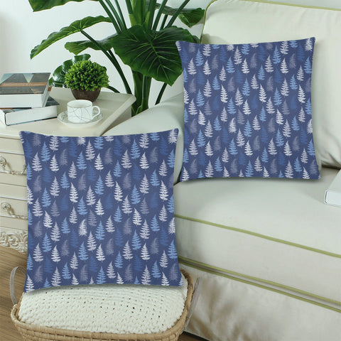 New Zealand Fern Leaves Pattern Zippered Pillow Cases 20 - 1st New Zealand