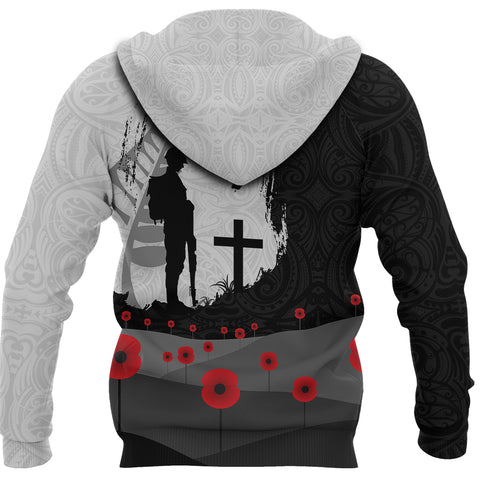 (Custom) Anzac Day Hoodie, New Zealand Australia Lest We Forget Pullover Hoodie K4 - 1st New Zealand