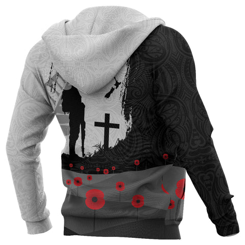 Anzac Day Hoodie, New Zealand Australia Lest We Forget Pullover Hoodie K4 - 1st New Zealand
