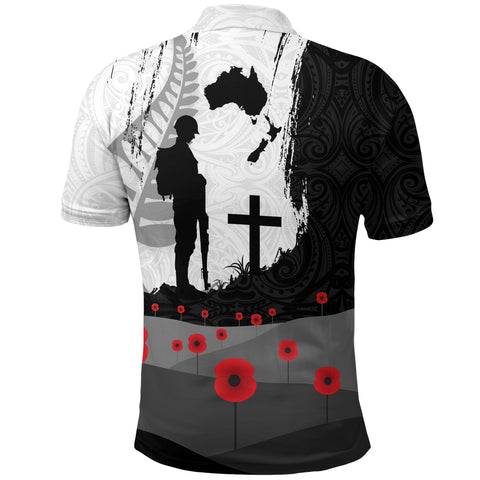 Image of Anzac Day Polo Shirt, New Zealand Australia Lest We Forget Golf Shirt K4 - 1st New Zealand