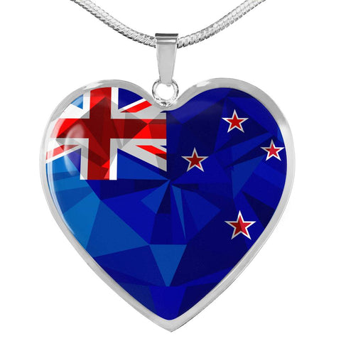 New Zealand Flag Heart Necklace - 1st New Zealand