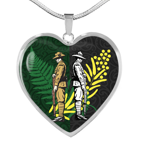 Anzac Spirit, Lest We Forget Heart Necklace 02 K5 - 1st New Zealand