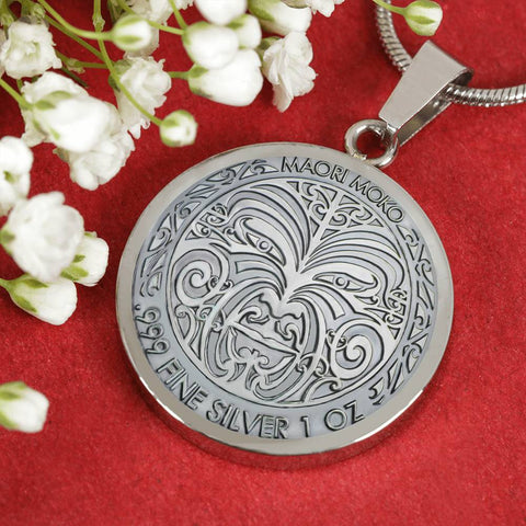 New Zealand Moko Coin Necklace K4 - 1st New Zealand